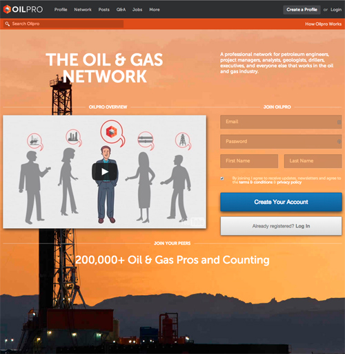 oilpro homepage 500px