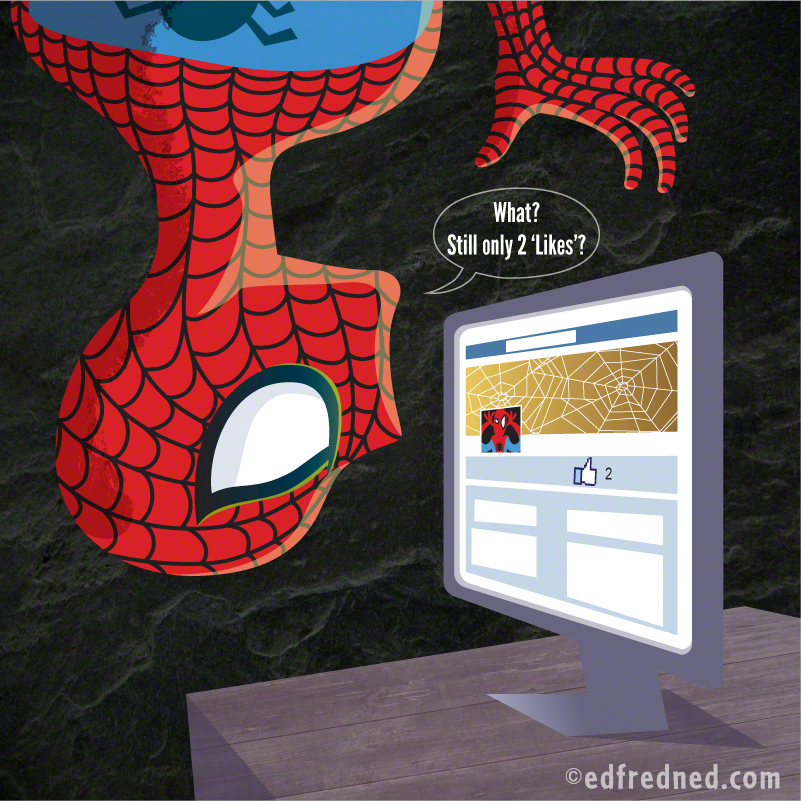 Spider-man on Facebook