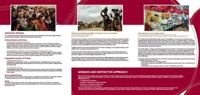Ed Fred Ned  Boston College Brochure  Ed Fred Ned