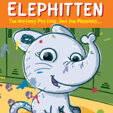 Elephitten chapter book cover illustration and design