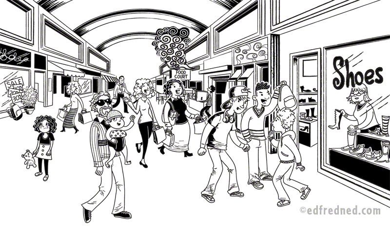 Mall Drawings Coloring Pages