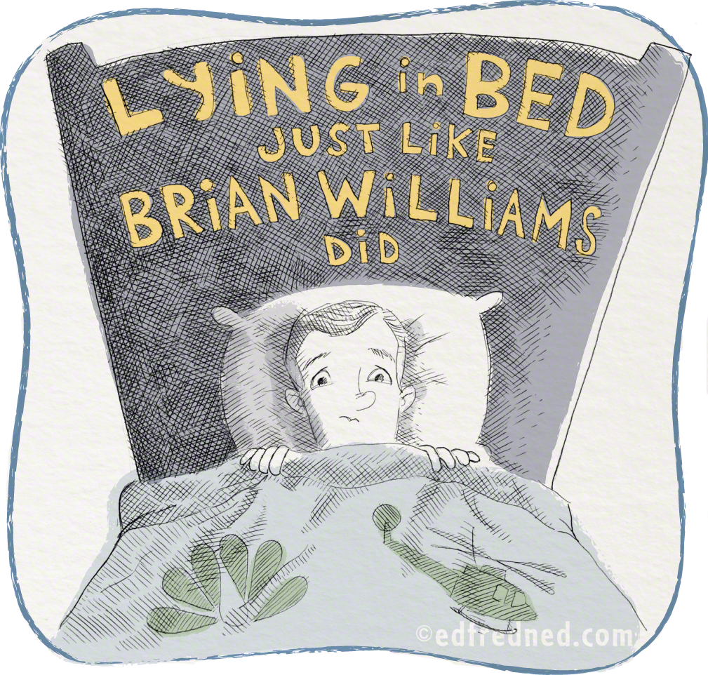 brian williams in bed