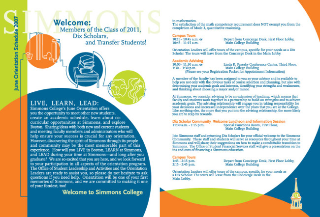 Ed Fred Ned - Simmons College Brochure - Ed Fred Ned
