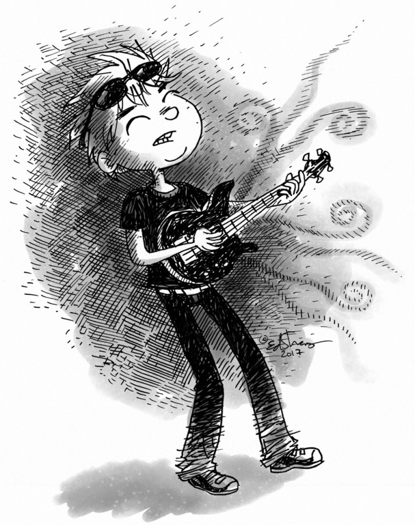 guitar boy illustration