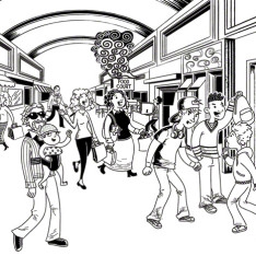 Mall scene find the dangerous situations