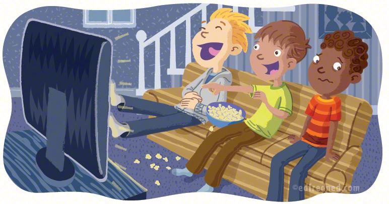 Watching forbidden TV show
