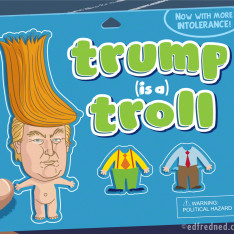 Donald Trump as a Troll doll