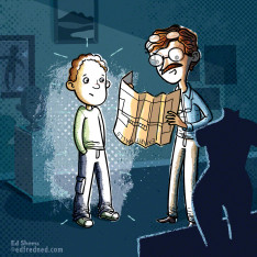 Flashlight Flynn chapter book illustration