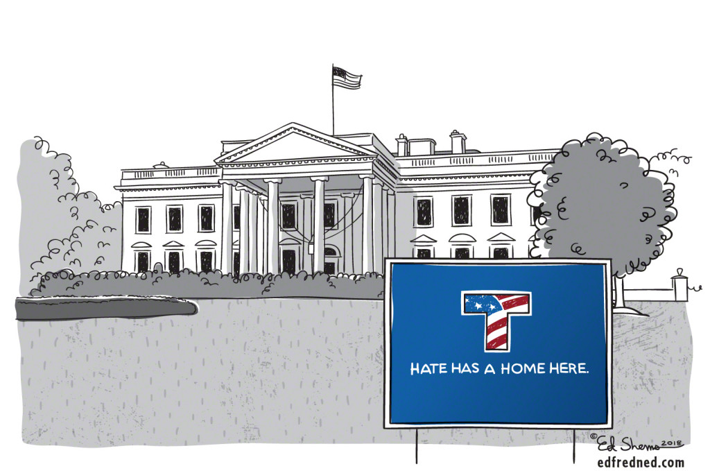 Hate has a home here