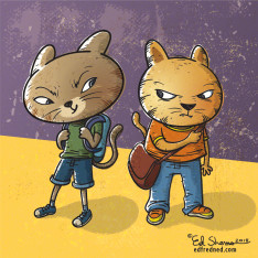 Backpack Cat illustration