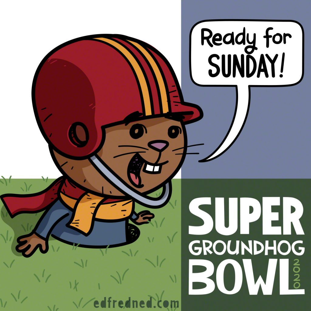 Groundhog Day on Super Bowl Sunday